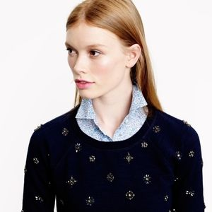 J.Crew | Navy Jeweled Sweatshirt